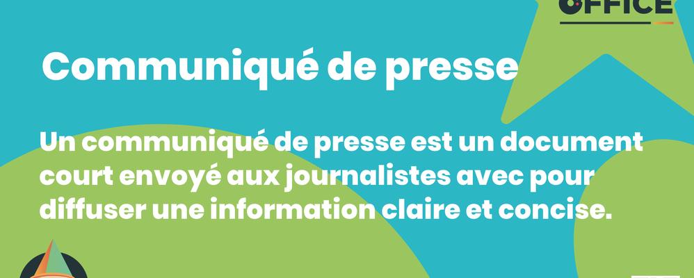 Definition Communiqué de presse